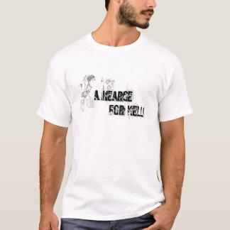 Camiseta um carro fúnebre para o kelli T branco    …