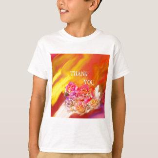 Camiseta Um cheio da mão dos obrigados tende para você