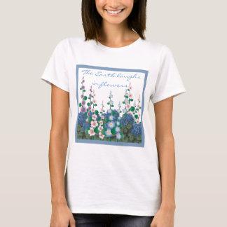 Camiseta Um cheio do jardim do t-shirt das flores