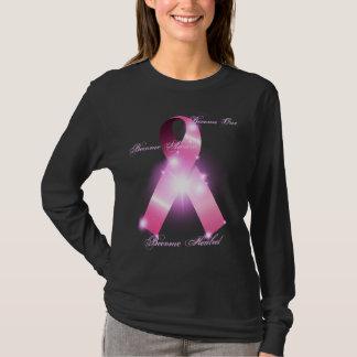 Camiseta Um, ciente, curado