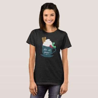 Camiseta Um copo do deixou-o nevar