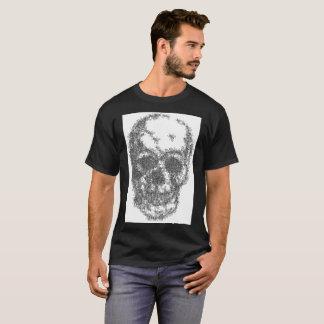 Camiseta Um crânio feito das moscas