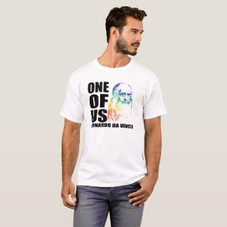 Camiseta Um de nós arco-íris Leonardo da Vinci