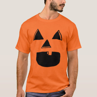 Camiseta Um dente Jackolantern enfrenta