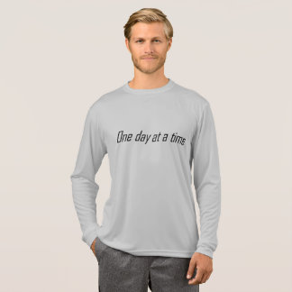Camiseta Um dia em uma parte superior encorajadora do tempo
