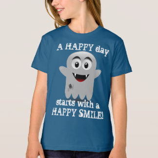 Camiseta Um dia FELIZ começa com um t-shirt FELIZ do