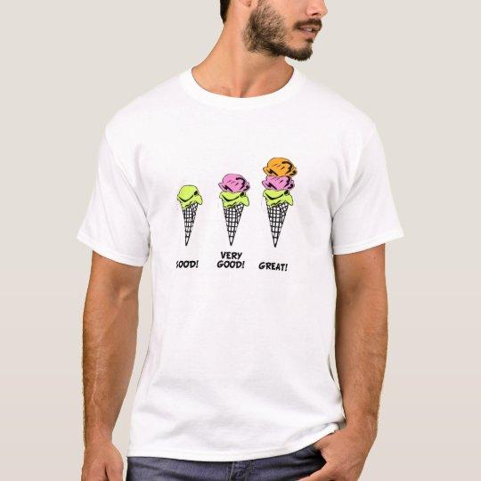 Camiseta Um é pouco, dois é bom e três é demais!