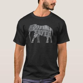 Camiseta Um elefante é amável