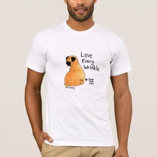 Camiseta Um enrugamento do Pug a tempo (Pug da jovem corça)