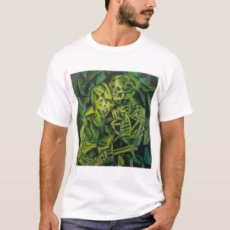 Camiseta Um esqueleto que abraça um horror do Dia das