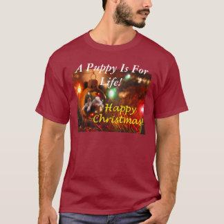 Camiseta Um filhote de cachorro realiza-se para a vida!