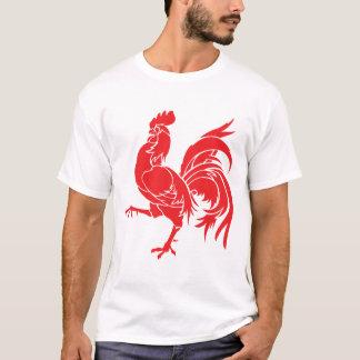 Camiseta Um galo vermelho