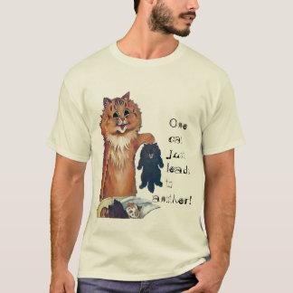 Camiseta Um gato conduz a um outro t-shirt