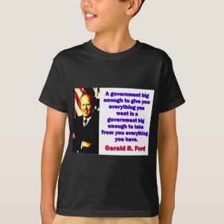 Camiseta Um governo - Gerald Ford grande bastante