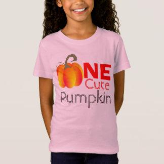 Camiseta Um gráfico outonal engraçado da abóbora bonito