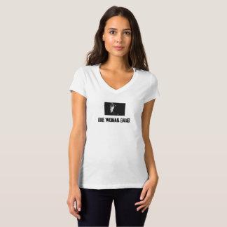 Camiseta Um grupo da mulher