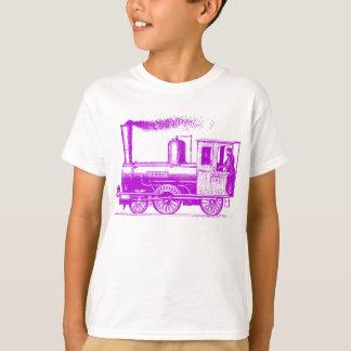 Camiseta Um homem e seu trem - roxo