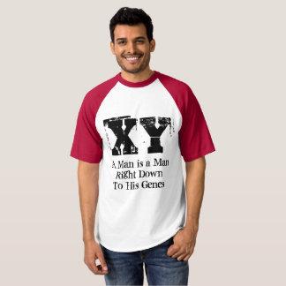 Camiseta Um homem é um homem até a seu t-shirt dos genes