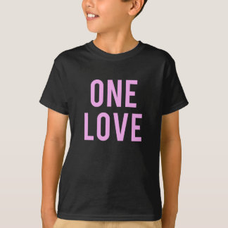 Camiseta Um impressão cor-de-rosa do amor