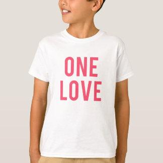 Camiseta Um impressão vermelho do amor