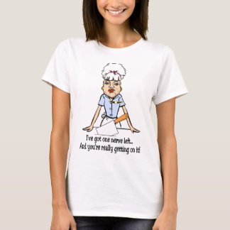 Camiseta um nervo deixado