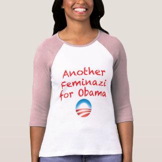 Camiseta Um outro Feminazi para Obama