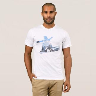 Camiseta Um poço da vida - gasto - Snowboarder