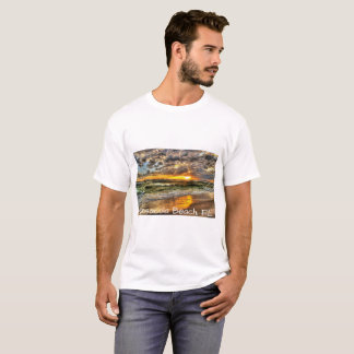 Camiseta Um por do sol dinâmico na praia de Pensacola