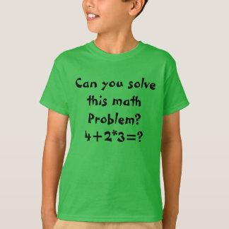 Camiseta Um problema de matemática