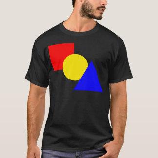 Camiseta Um quadrado vermelho, um círculo amarelo, e um