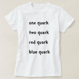 Camiseta Um Quark vermelho do azul do Quark do Quark do