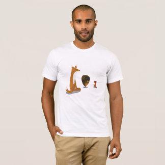 Camiseta Um rato, um Fox & um t-shirt da coruja