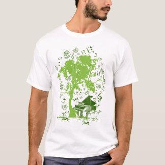 Camiseta um som enchido árvore