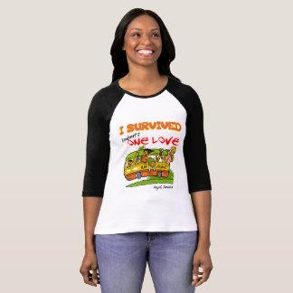 Camiseta Um T do Henley das mulheres do rastejamento da