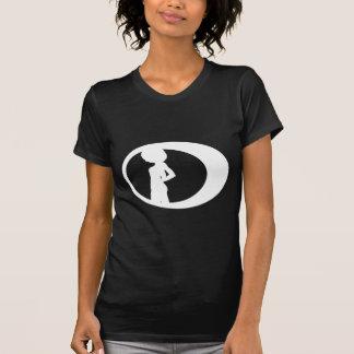 Camiseta Um t-shirt Chique-Natural mau do cabelo