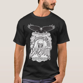 Camiseta Um t-shirt escuro básico da tendência original do
