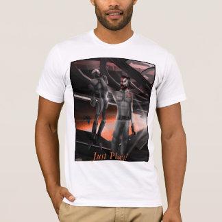 Camiseta Um t-shirt macio do vintage com logotipo do jogo