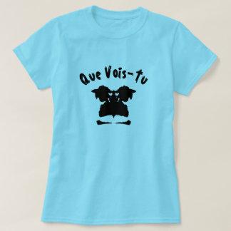 Camiseta Um teste da mancha com texto Que a Vois-Turquia