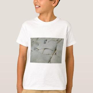 Camiseta Um teste padrão abstrato de branco e de cinzento