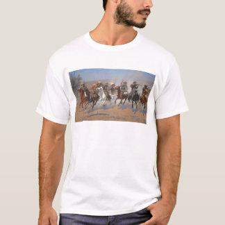 Camiseta Um traço para a madeira por Frederic Remington