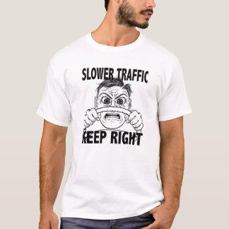 Camiseta Um tráfego mais lento mantem-se certo