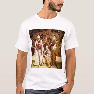 Camiseta Um trio da gueixa japonesa no 芸者 velho do vintage