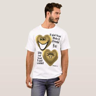 Camiseta Um Tshirt contente do coração