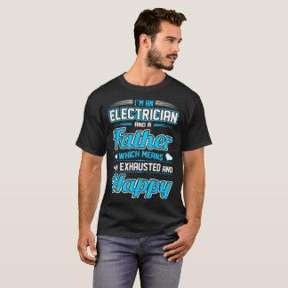 Camiseta Um Tshirt feliz esgotado pai do eletricista