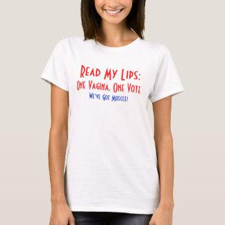 Camiseta Um Vagina, o um t-shirt das mulheres do voto