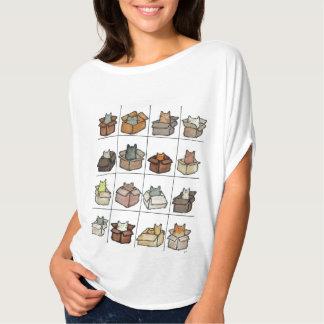 Camiseta Uma caixa para cada t-shirt do gato