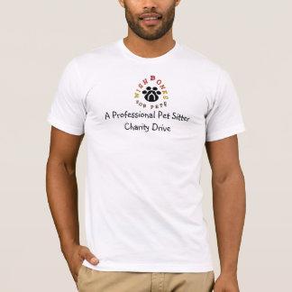 Camiseta Uma caridade profissional do baby-sitter do animal