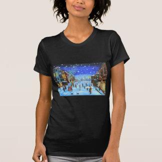 Camiseta Uma cena da rua do inverno de Scrooge da canção de