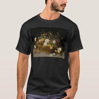 Camiseta Uma cesta das flores - Jan Brueghel o mais novo