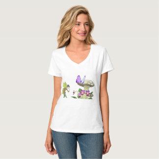 Camiseta Uma fada no t-shirt das mulheres da terra da